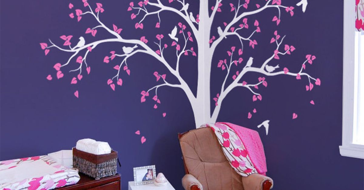 How to Paint a Tree on a Wall Corner